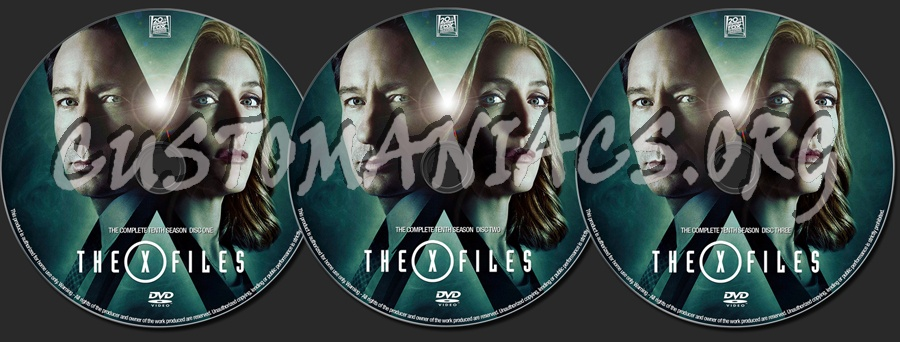 The X Files Season 10 dvd label