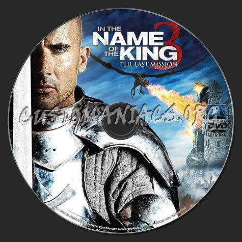 In the Name of the King 3: The Last Mission dvd label ...