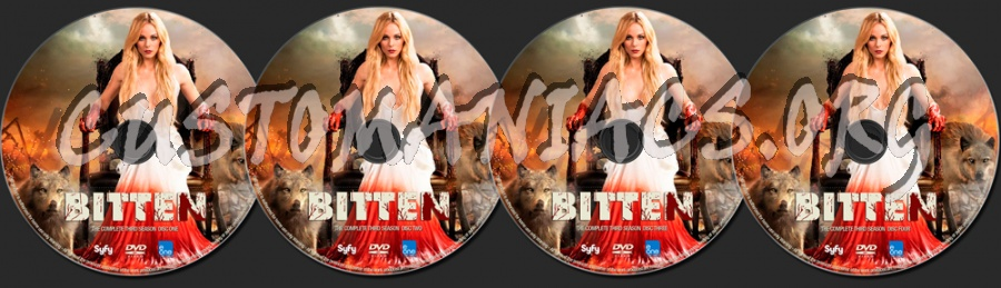 Bitten Season 3 dvd label