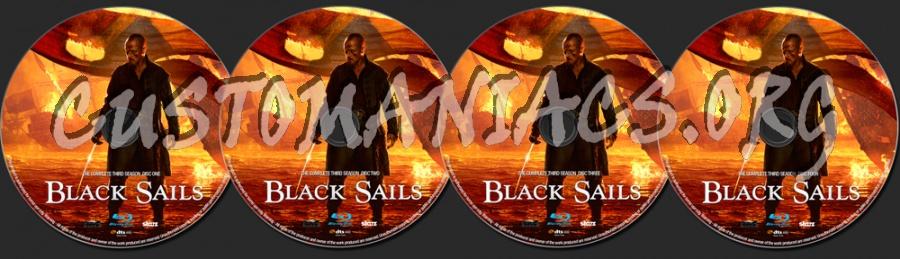 Black Sails Season 3 blu-ray label