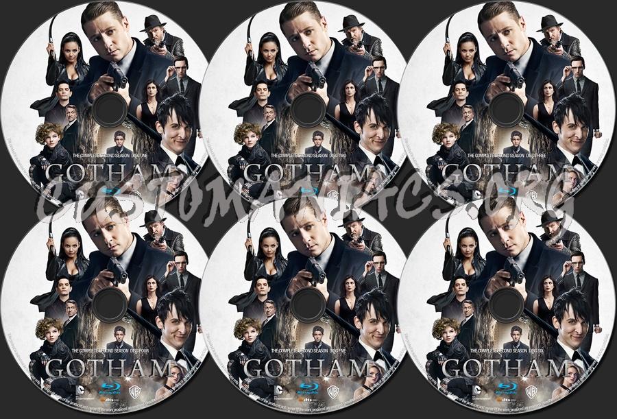 Gotham Season 2 blu-ray label