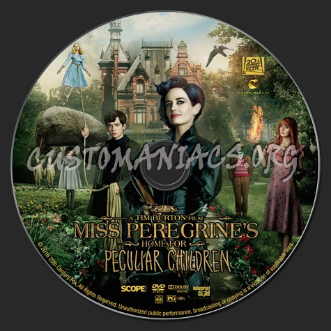 Miss Peregrine's Home for Peculiar Children dvd label