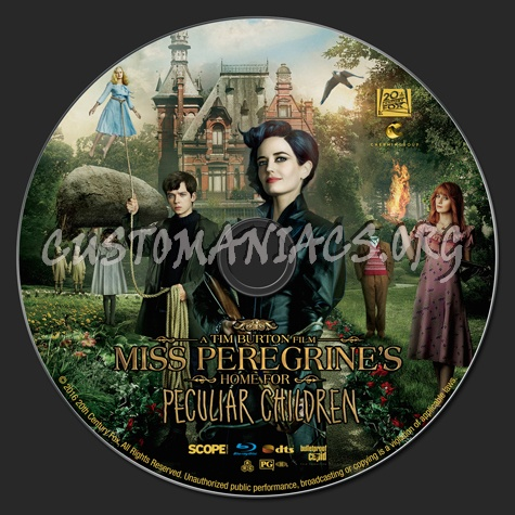 Miss Peregrine's Home for Peculiar Children blu-ray label