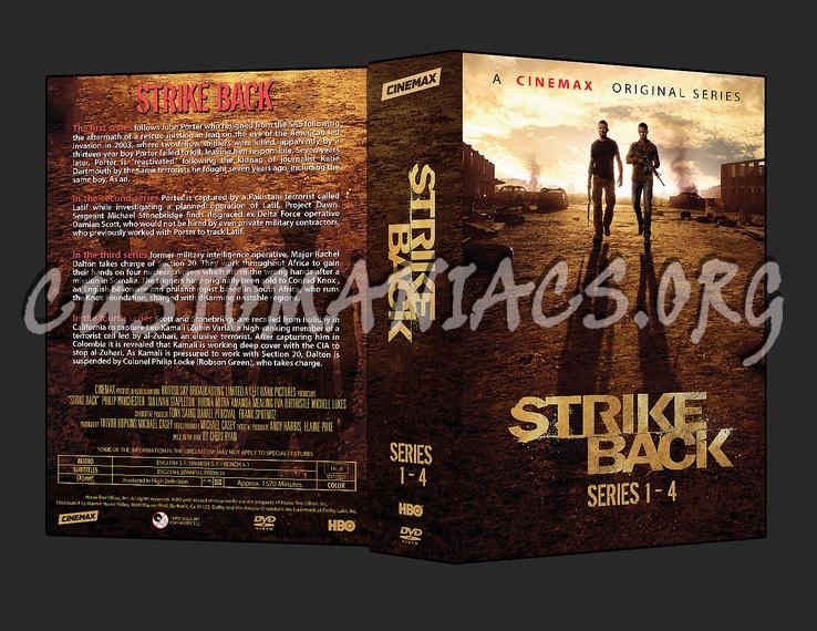 Strike Back - Series 1-4 dvd cover