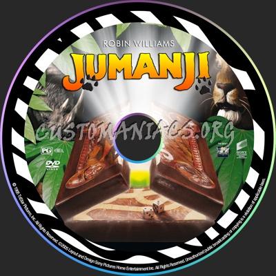 Jumanji dvd label