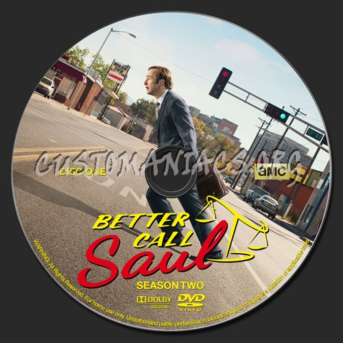 Better Call Saul - Season 2 dvd label
