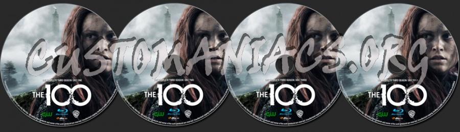 The 100 Season 3 blu-ray label