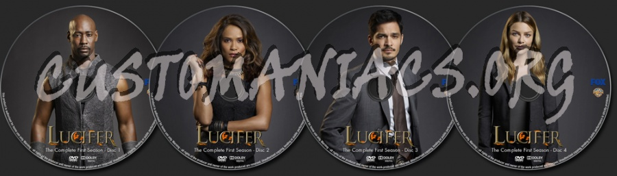 Lucifer Season 1 dvd label