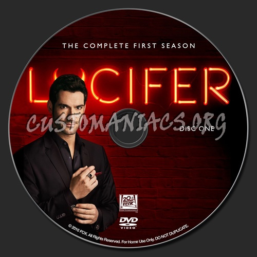 Lucifer Season 4 First Day: DVD Covers & Labels By