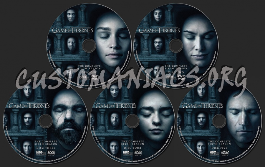 Game Of Thrones Season 6 Dvd Label Dvd Covers Labels By