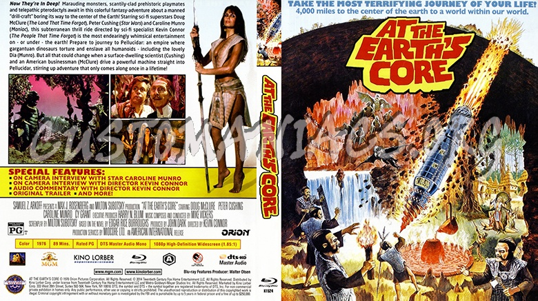At the Earth's Core blu-ray cover