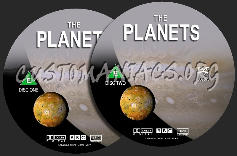 The Planets dvd label