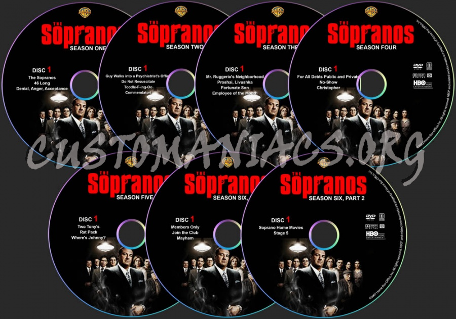 The Sopranos - The Complete Series dvd label