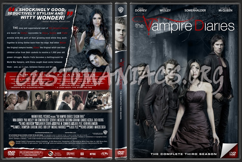 The Vampire Diaries Season 3 dvd cover