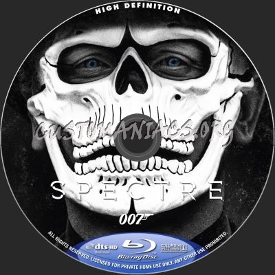 Spectre blu-ray label