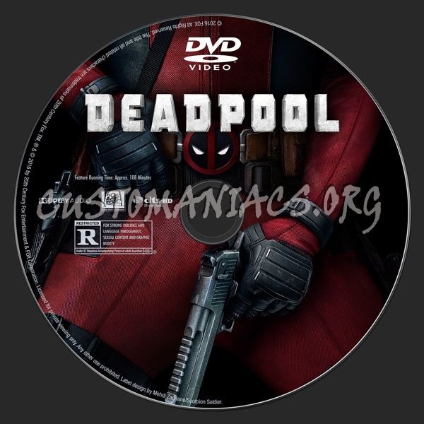 Deadpool dvd label