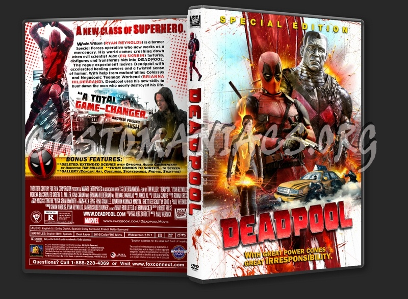 Deadpool 2016 Dvd Cover Dvd Covers Labels By Customaniacs Id 236868 Free Download Highres Dvd Cover