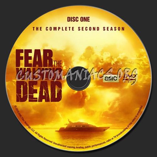 Fear The Walking Dead - Season 2 dvd label