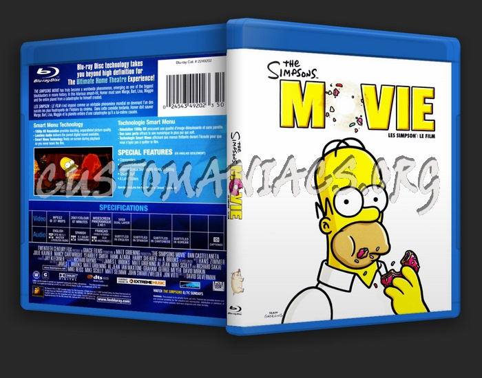 The Simpsons Movie Blu Ray Cover Dvd Covers Labels By Customaniacs Id 38993 Free Download Highres Blu Ray Cover