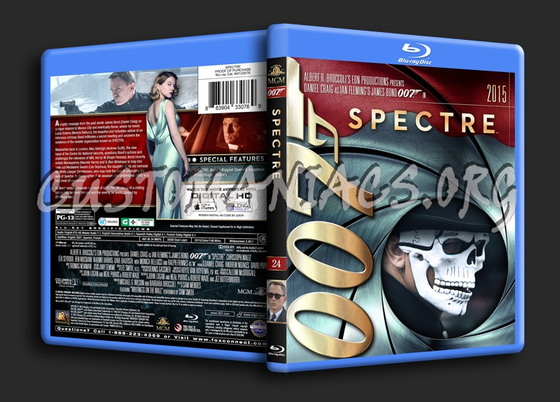 James Bond Collection - Spectre (24) blu-ray cover