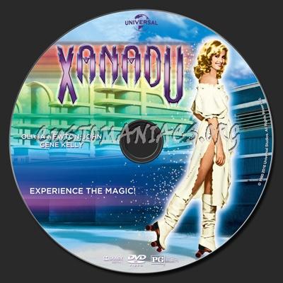Xanadu (1980) dvd label