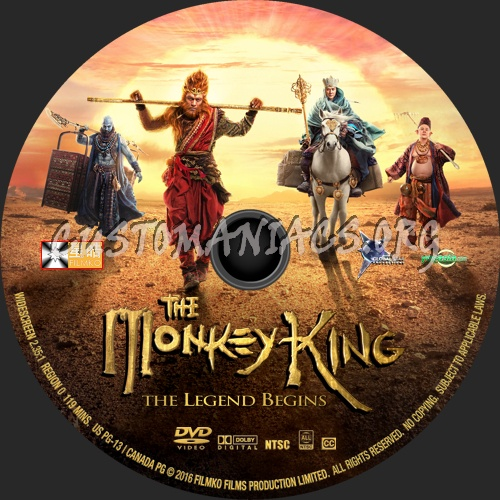 The Monkey King 2 (2016) dvd label