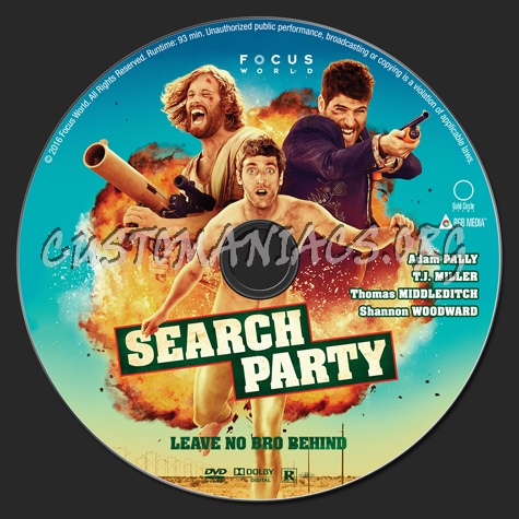 Search Party dvd label