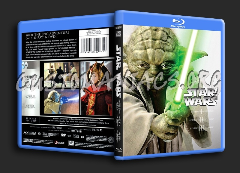 Star Wars I II III blu-ray cover