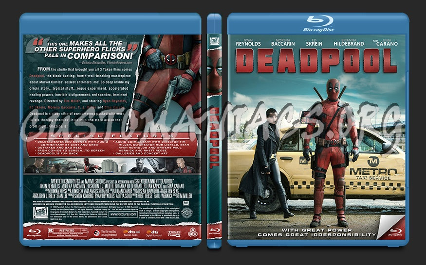 Deadpool blu-ray cover