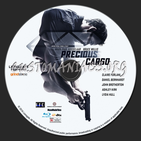 Precious Cargo blu-ray label