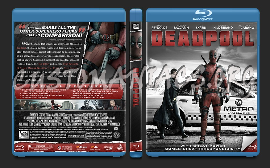 Deadpool blu-ray cover