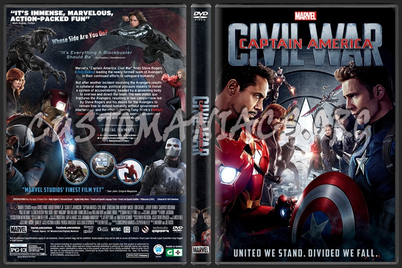 captain america civil war dvd release