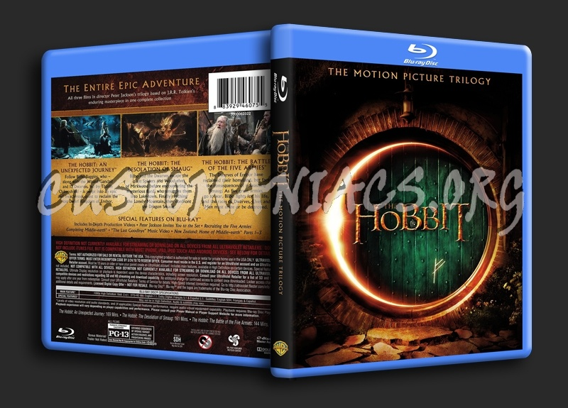 The Hobbit Trilogy blu-ray cover