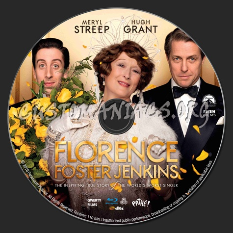 Florence Foster Jenkins blu-ray label