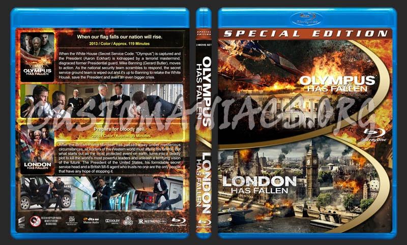 Olympus Has Fallen / London Has Fallen Double Feature blu-ray cover