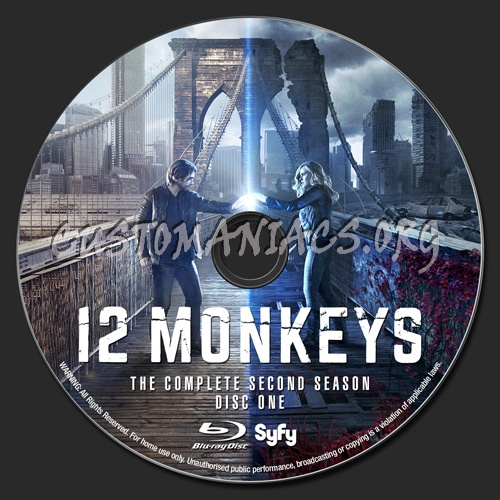 12 Monkeys - Season 2 blu-ray label