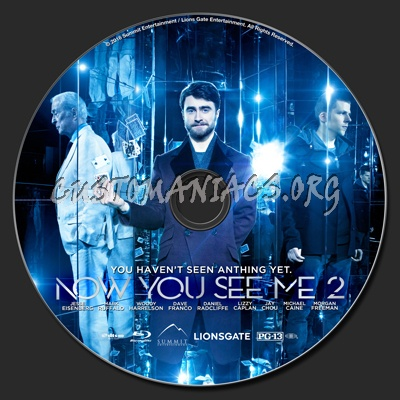 Now You See Me 2 blu-ray label