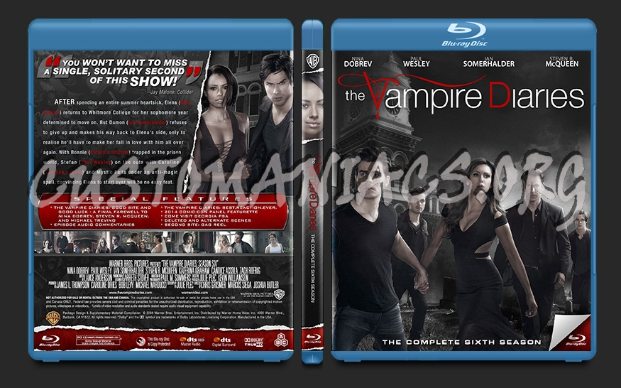 The Vampire Diaries Season 6 blu-ray cover - DVD Covers & Labels by