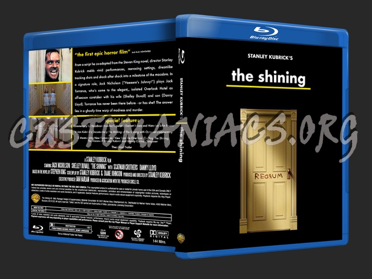 Stanley Kubrick's The Shining blu-ray cover