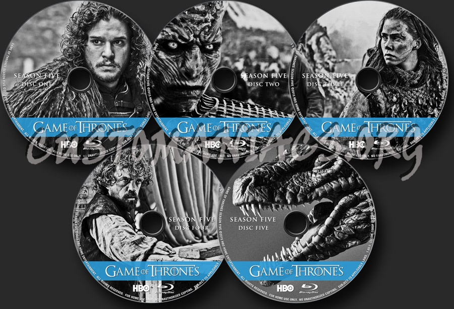 Game of Thrones Season 5 blu-ray label