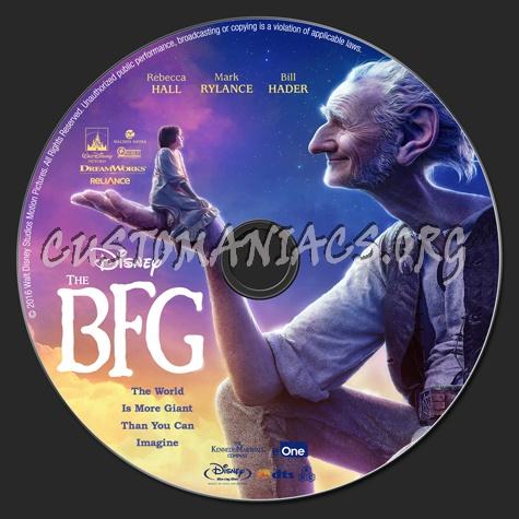 The BFG (Big Friendly Giant) 2016 2D & 3D blu-ray label