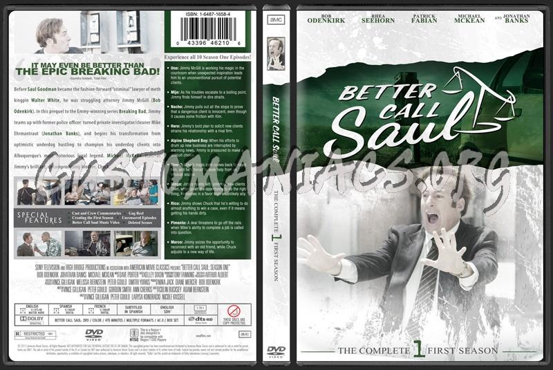 Better Call Saul Season 1 dvd cover