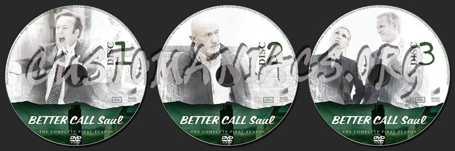 Better Call Saul Season 1 dvd label