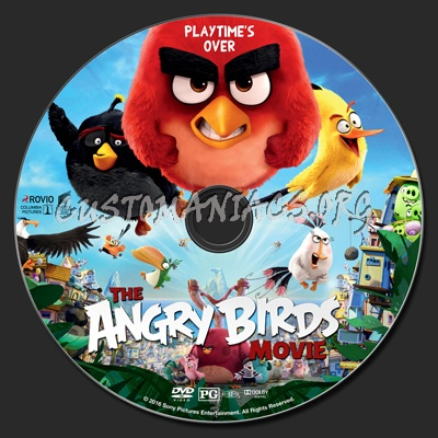 Angry Birds (aka The Angry Birds Movie) dvd label
