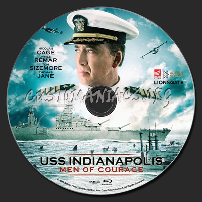 USS Indianapolis Men Of Courage blu-ray label