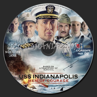 USS Indianapolis Men Of Courage dvd label