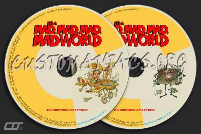 692 - It's A Mad Mad Mad Mad World dvd label