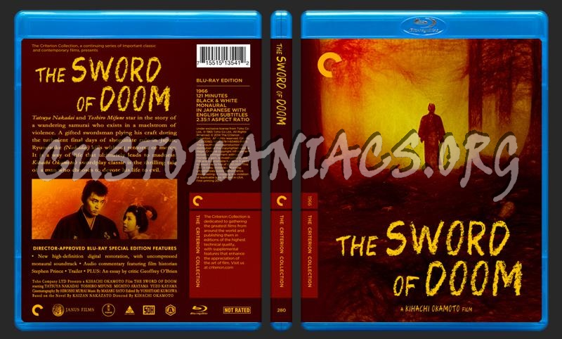 280 - The Sword of Doom blu-ray cover