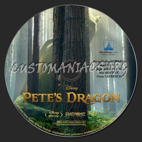 Pete's Dragon (2D & 3D) (2016) blu-ray label
