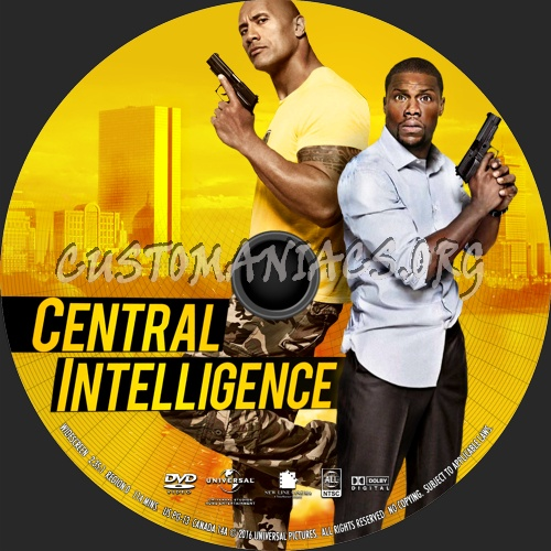 Central Intelligence 2016 Dvd Label Dvd Covers Labels By Customaniacs Id 238295 Free Download Highres Dvd Label